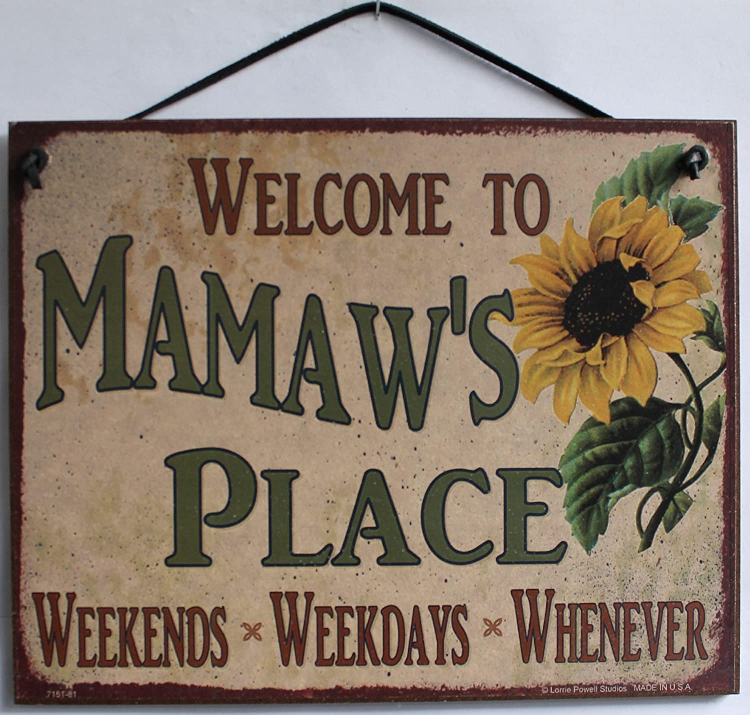 Weekdays Egberts Treasures 5x8 Vintage Style Sign with Sunflower Saying Whenever Decorative Fun Universal Household Signs from Welcome to G.G.S PLACE Weekends