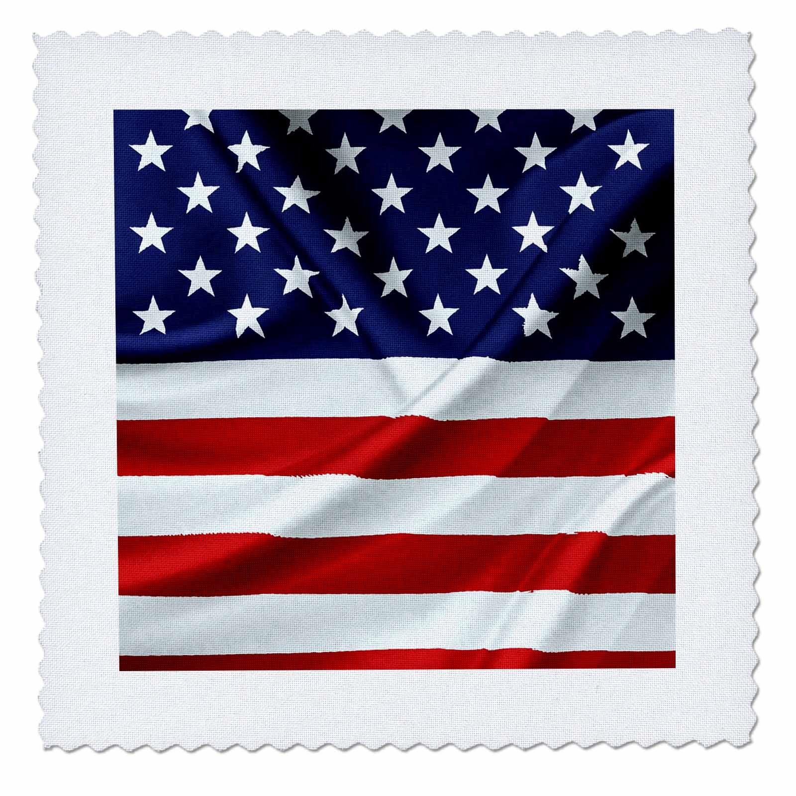 3dRose Alexis Design - America - Flag of the United States Of America. Stars on top - 20x20 inch quilt square (qs_270542_8)