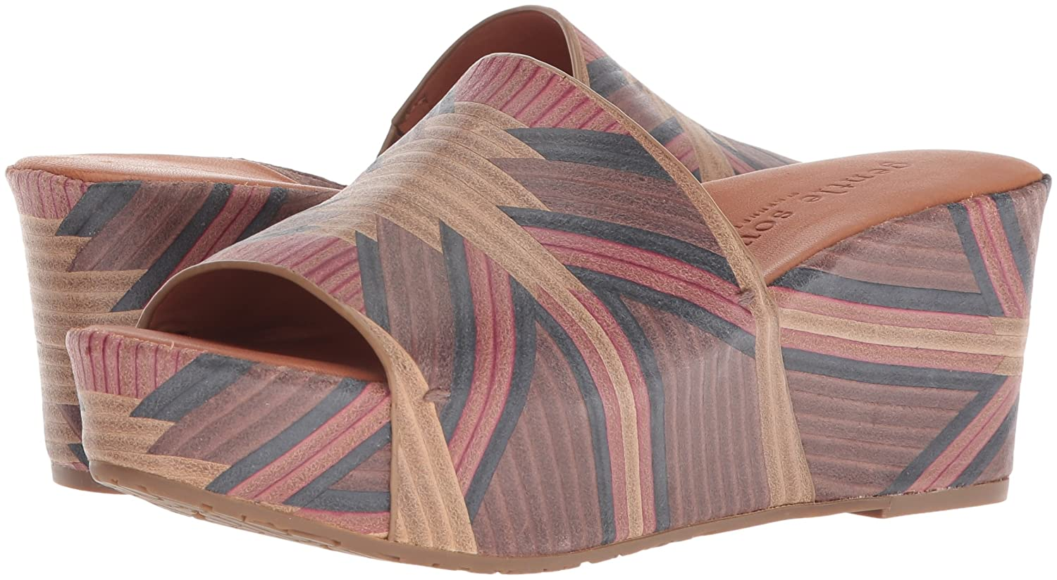 Gentle Souls Women's 8.5 Forella Platform Slip Slide Sandal B075GYWQ49 8.5 Women's B(M) US|Brown/Multi d9574c