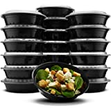 Paksh Novelty Lunch Box Sets/Round Large Food Container with Lid for Meal Prep, Microwaveable, Freezer & Dishwasher Safe…