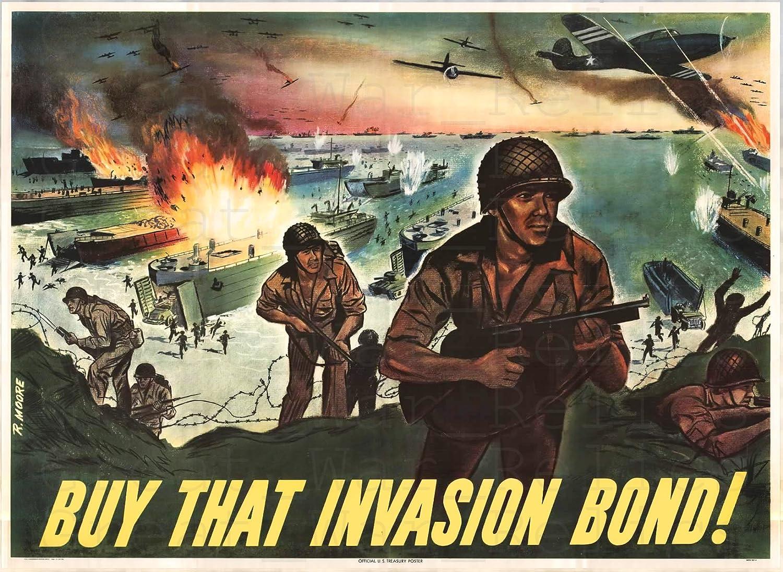 D Day WWII Propaganda Poster 11.7 x 16.5