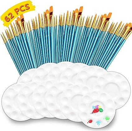 9 ASSORTED PLASTIC PAINT BRUSHES FOR KIDS CHILDREN ART /& CRAFT CREATIVE FUN NEW