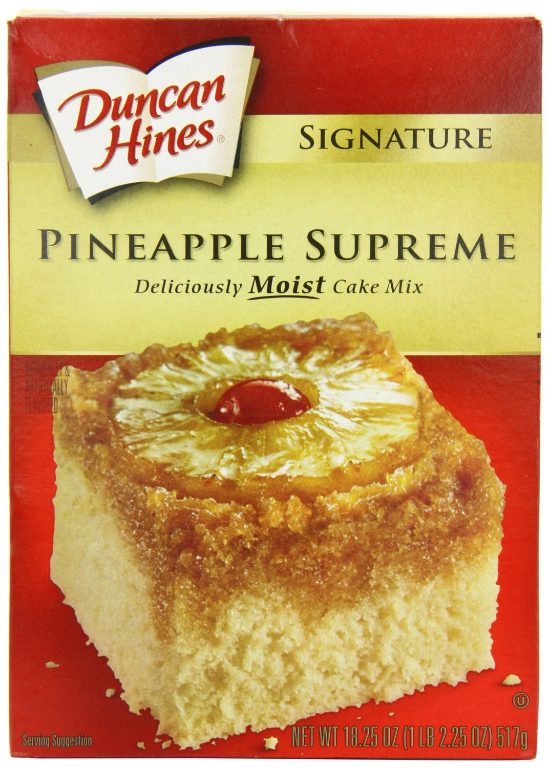 Duncan Hines Signature Pineapple Cake Mix, 16.5-ounce Boxes (Pack of 2)