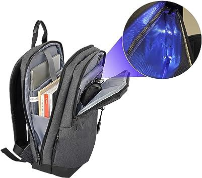 Ebox Mochila Para Portátil Con Bolsillo Esterilizador Uv Rayos Ultravioleta Maletin Que Elimina 99 9 Bacterias Bolso Acolchado Para Ordenador Amazon Es Electrónica