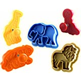 Chicago Metallic 5-Piece Circus Animal Plunger Cookie Cutters Set