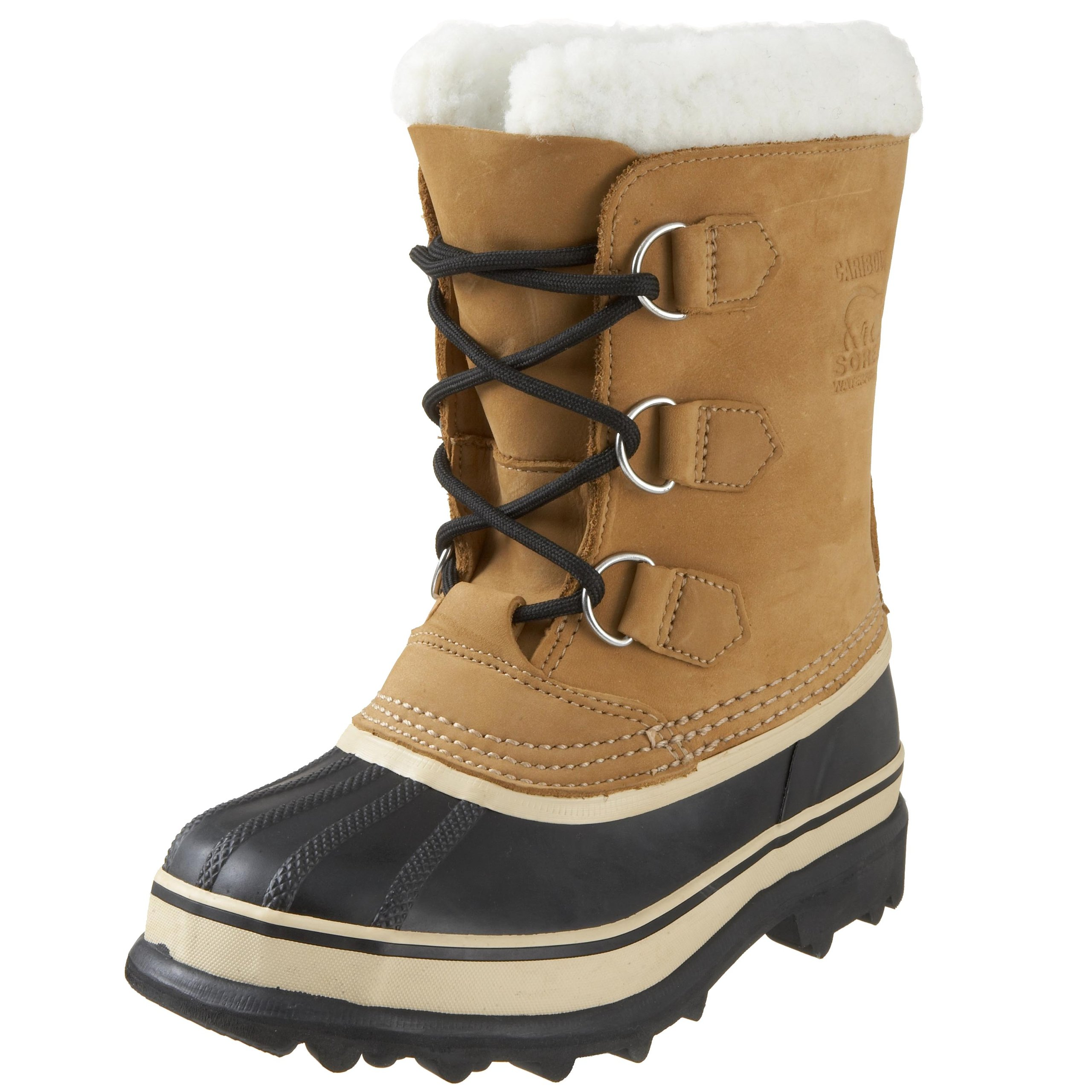 Sorel Caribou 1000 - Winter Boot (Little Kid/Big Kid),Buff,6 M US Big Kid