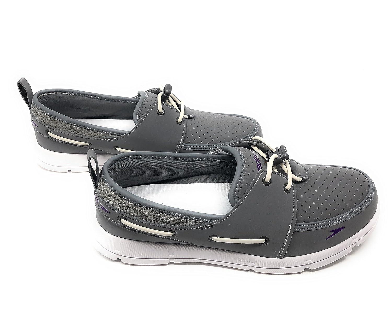 Speedo. Women's Port Lightweight Breathable Water Shoe B07CYGJ4GK 8 B(M) US|Grey