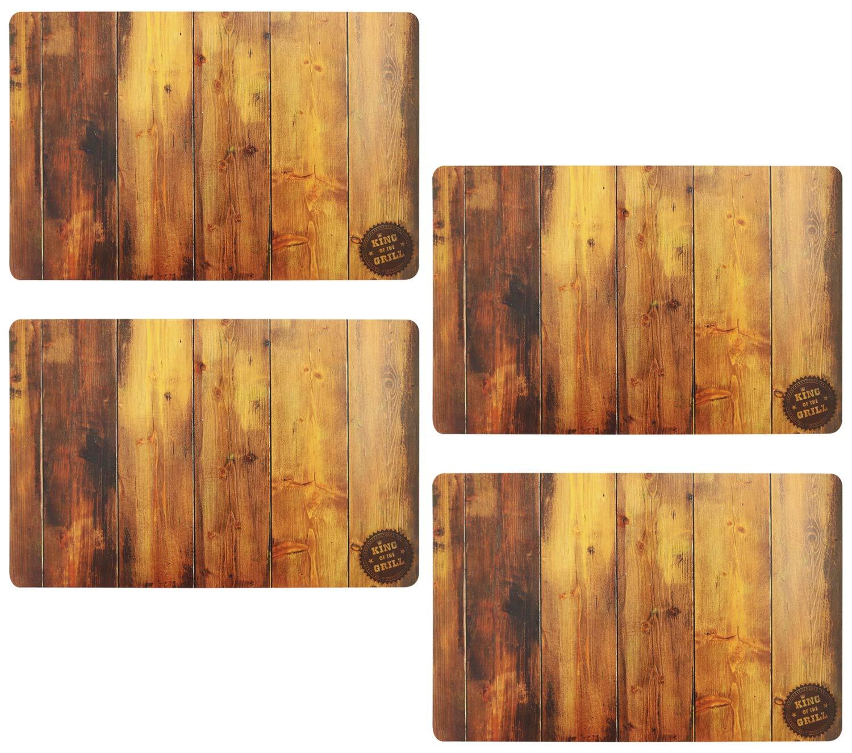 COM-FOUR® 4x Noble mantel individual en madera