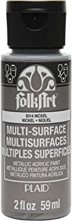product image for FolkArt Multi-Surface Metallic Paint in Assorted Colors (2 oz), Metallic Nickel