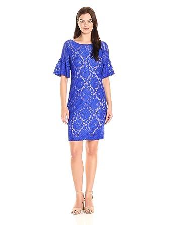 6b6be8df Ivanka Trump Women's Ruffle Sleeved Lace Dress at Amazon Women's ...
