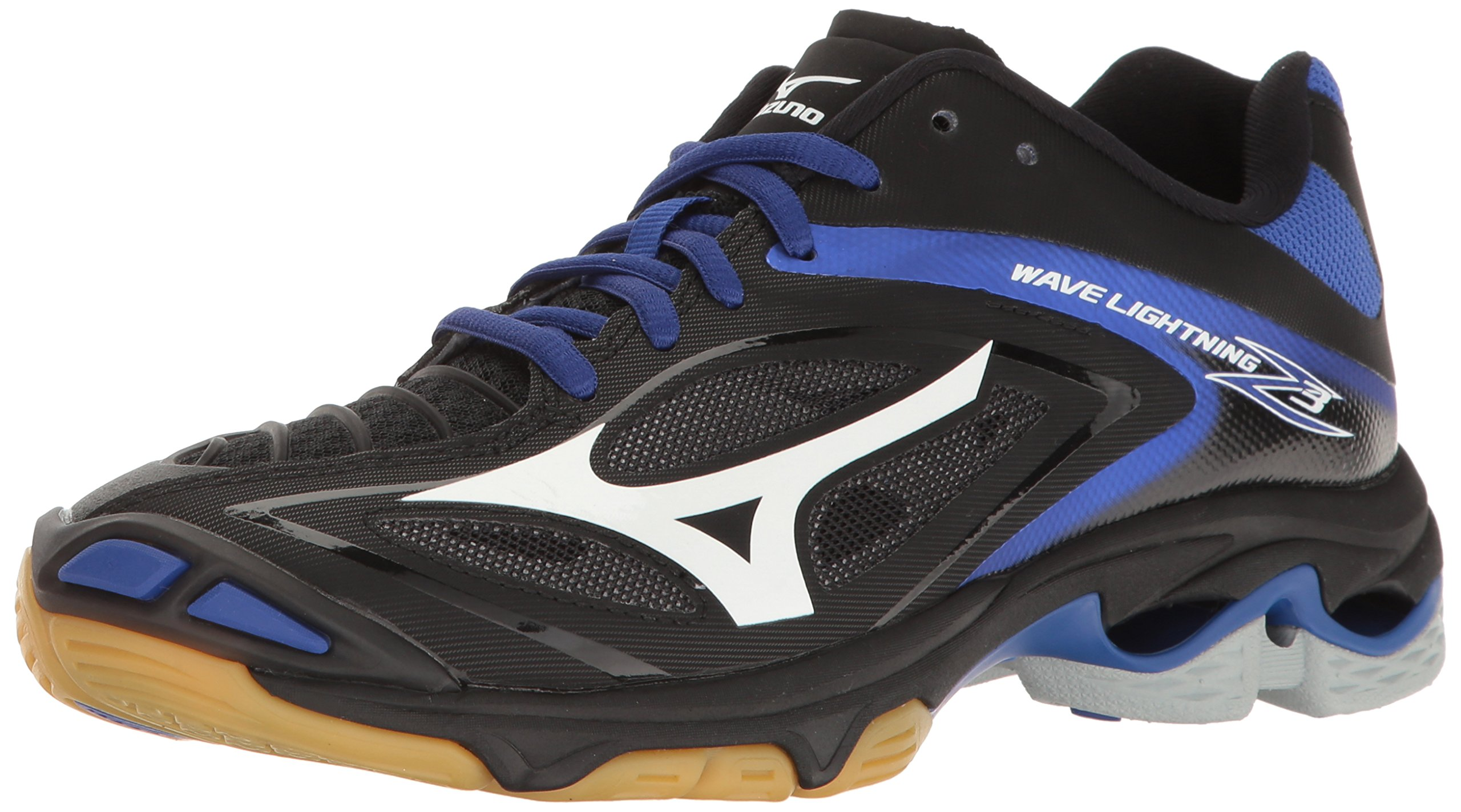 Mizuno Women's Wave Lighting Z3 Volleyball Shoe,Black/Royal,6.5 B US