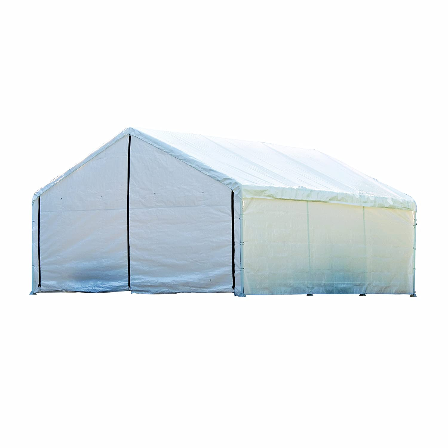 Amazon.com ShelterLogic Canopy Enclosure Kit 18x30-Feet White Sports u0026 Outdoors  sc 1 st  Amazon.com & Amazon.com: ShelterLogic Canopy Enclosure Kit 18x30-Feet White ...