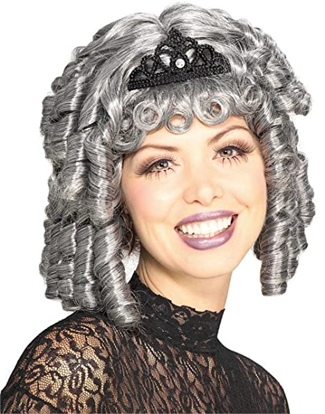 Vintage Hair Accessories: Combs, Headbands, Flowers, Scarf Grey Victorian Lady Costume Ringlets Wig $16.14 AT vintagedancer.com