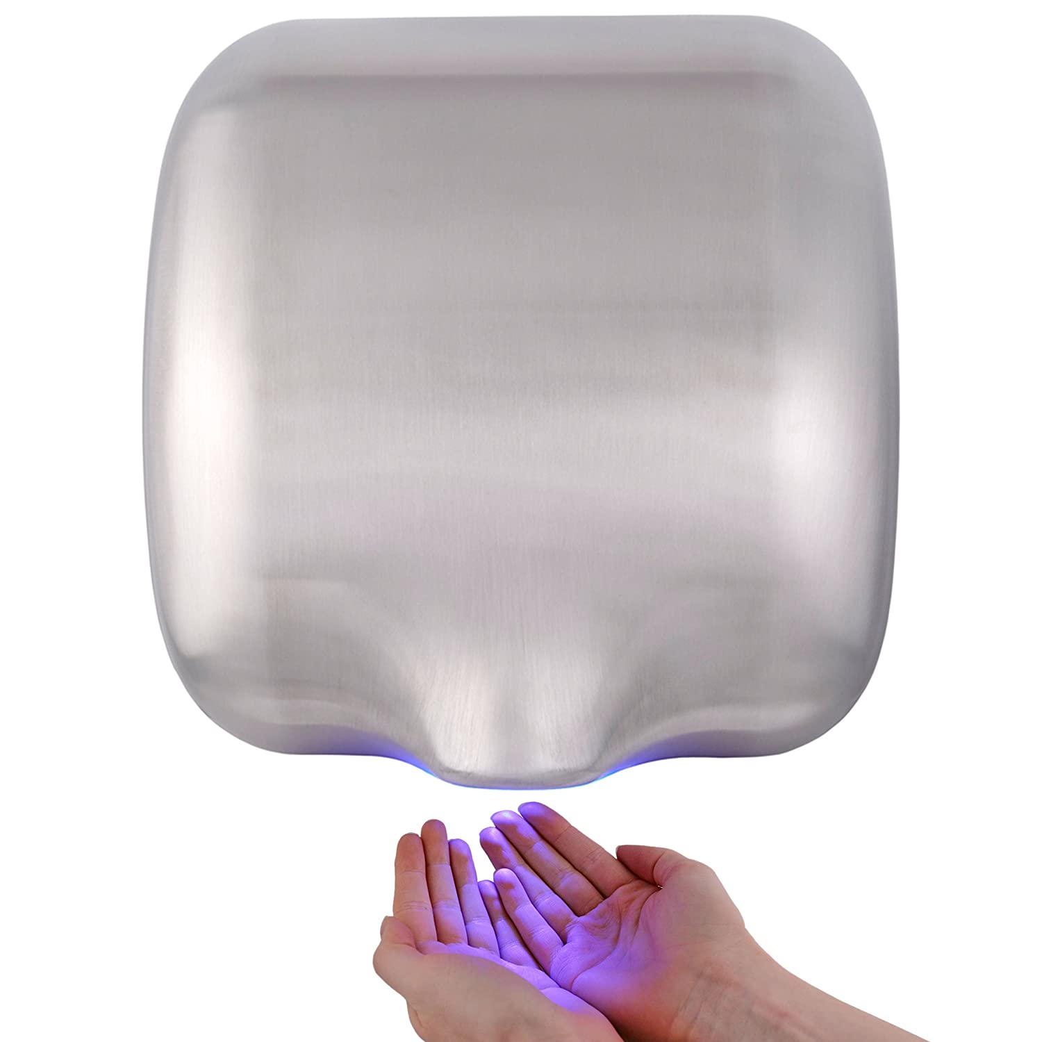 I-FORCE ECO DRY AUTOMATIC HIGH SPEED HAND DRYER ELECTRIC HEAVY DUTY - BRUSHED STAINLESS STEEL Washroom Hub