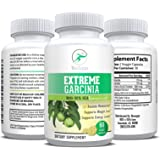Extreme Garcinia - 100% Pure Garcinia Cambogia | 95% HCA Weight Loss Pills | Elite Diet Supplement | Supports Quick Weight Loss and Reduces Appetite | Metabolism Booster 1400mg - 60 Count