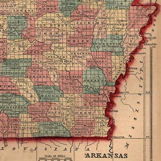 Amazon.com: Arkansas southern U.S. 1858 Gaston antique U.S. ...