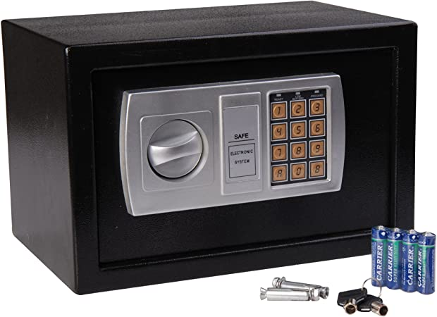 HOMCOM Caja Fuerte Electronica 20x31x20cm Combinacion de Seguridad + Llave Emergencia: Amazon.es: Hogar