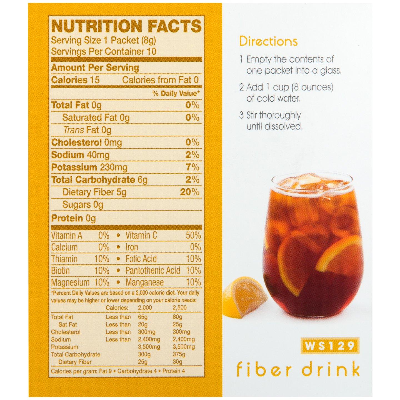 WonderSlim Suplemento de bebida de alta fibra: Amazon.com ...