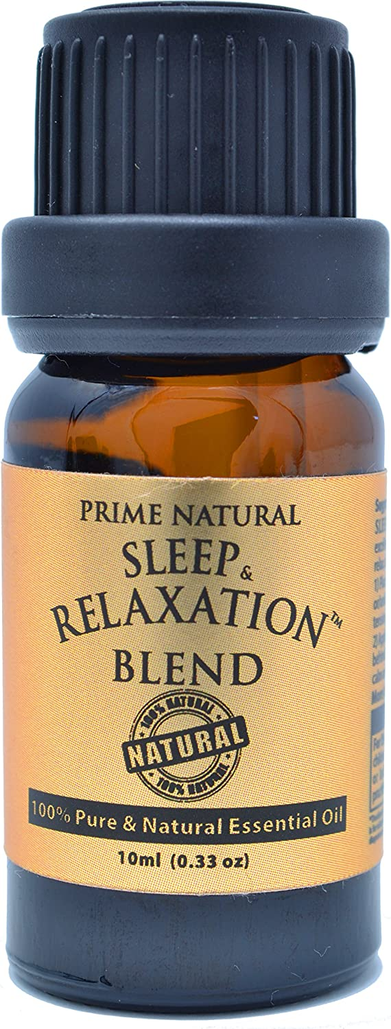 Sleep & Relaxation Essential Oil Blend 10ml - 100% Pure Natural Undiluted Therapeutic Grade for Aromatherapy Scents & Diffuser - Good Natural Sleep Aid, Depression Stress Anxiety Relief, Sleep Well essential oil diffuser - 81kKU1tcZgL - Essential oil diffuser – 5 best oil diffusers according to Amazon