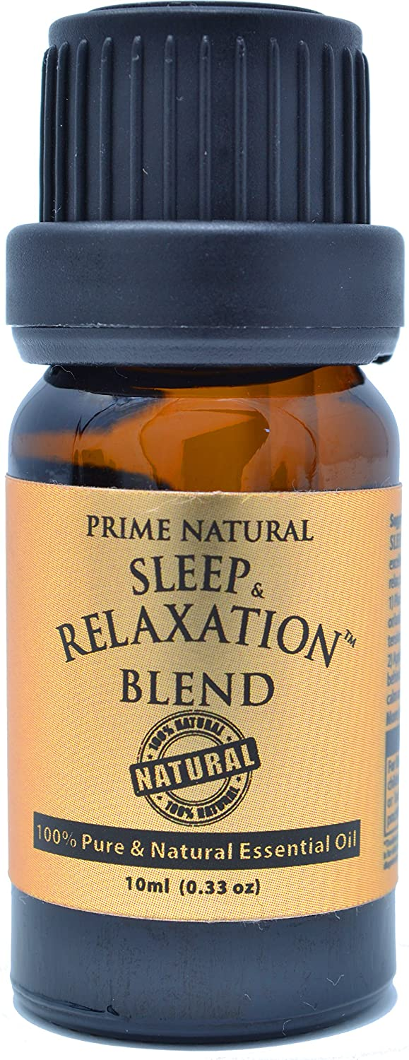 Sleep & Relaxation Essential Oil Blend 10ml - 100% Pure Natural Undiluted Therapeutic Grade for Aromatherapy Scents & Diffuser - Good Natural Sleep Aid, Depression Stress Anxiety Relief, Sleep Well INC