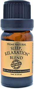 Sleep & Relaxation Essential Oil Blend 10ml - Pure Natural Undiluted Therapeutic Grade for Aromatherapy Scents & Diffuser - Good Natural Sleep Aid, Stress Anxiety Relief, Sleep Well