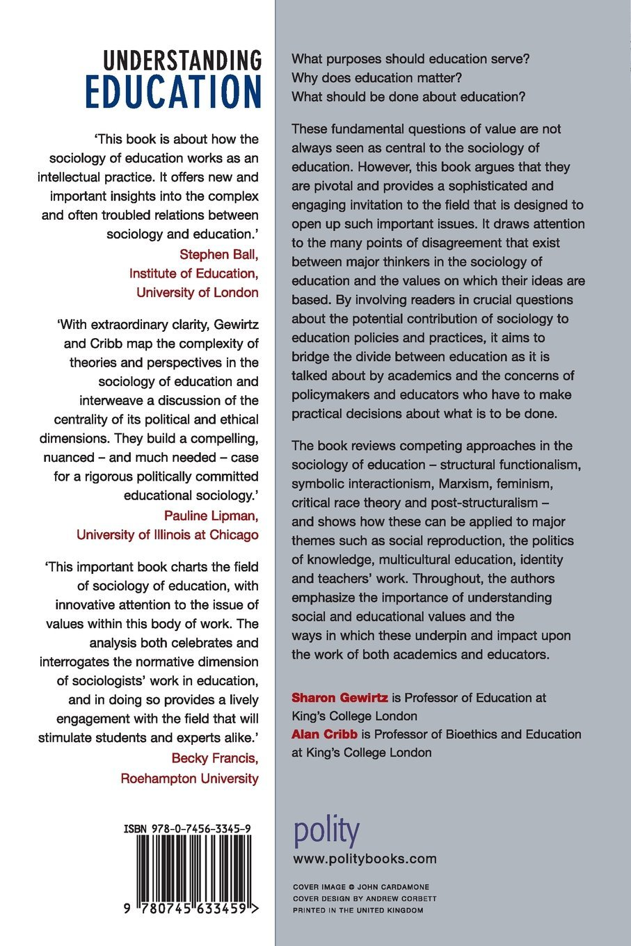 Understanding Education A Sociological Perspective Amazon