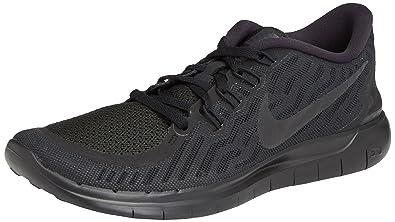 Nike Free 5.0 Damen Laufschuhe,Mehrfabig (Schwarz/Dunkles Grau/Taubengrau/Weiß 002),36 EU
