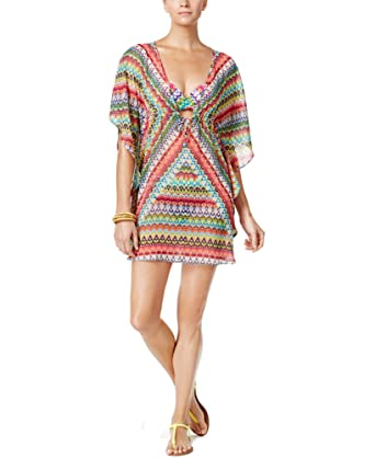 8f99fca12a6e6 Bleu by Rod Beattie Women's In Living Color Printed Caftan Cover-Up ...