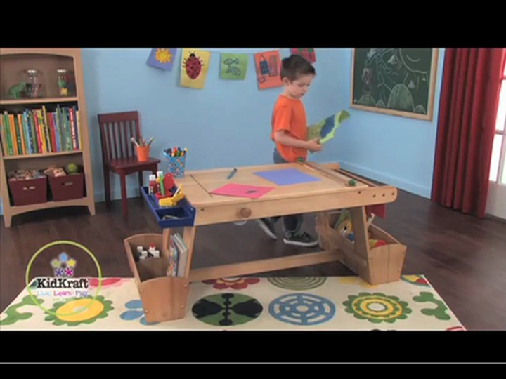 857c4e8aa8f2 KidKraft Art Table with Drying Rack and Storage