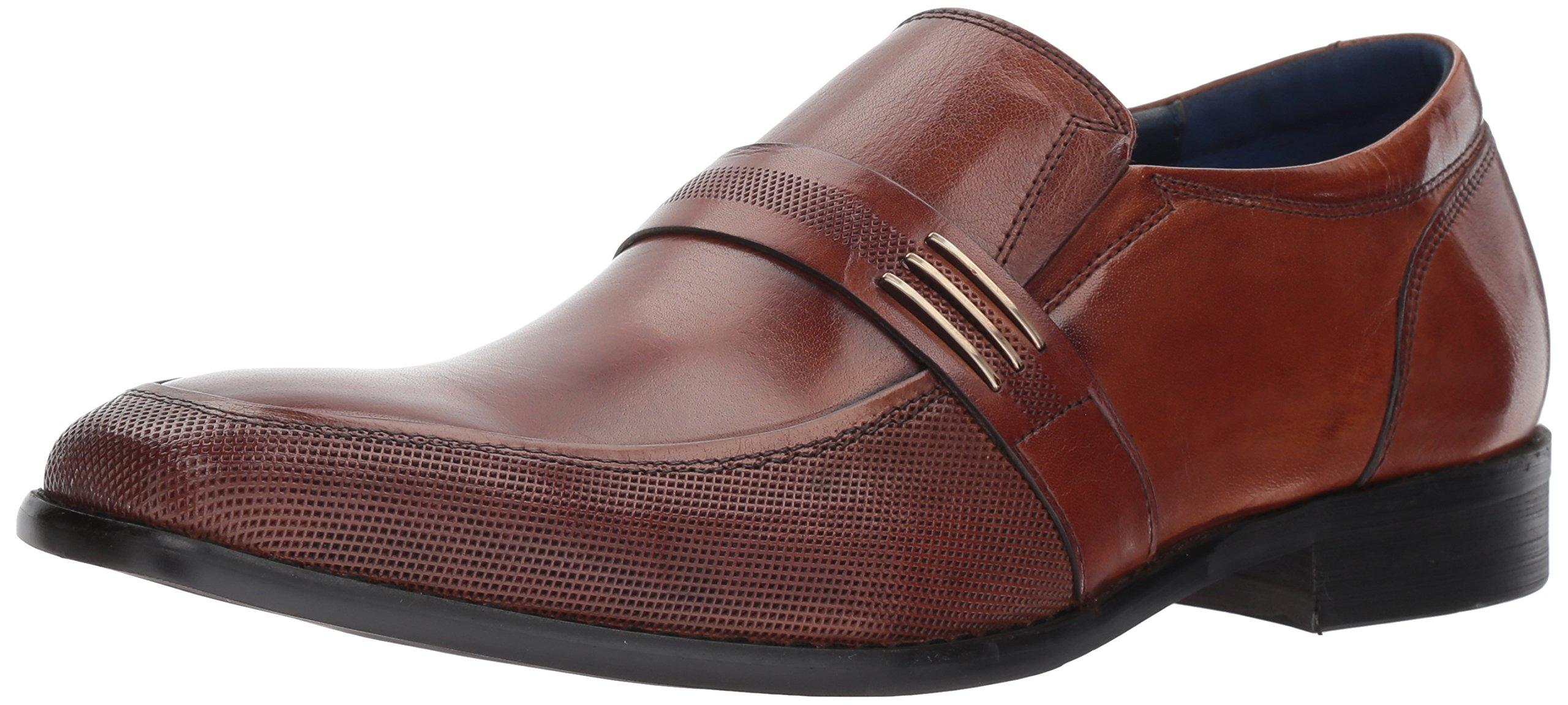 Steve Madden Men's Othello Loafer, Cognac Leather, 12 M US
