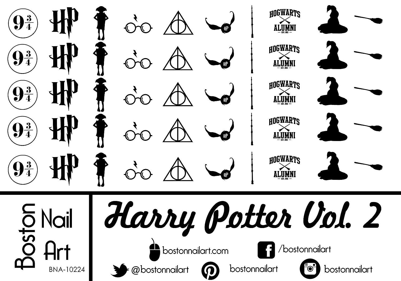 Harry Potter Vol. 2 - Waterslide Nail Decals - 50pc Boston Nail Art