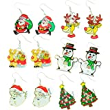 Light Up Christmas Earrings ~ Light Bulb Drop Ear Rings Red: Amazon ...