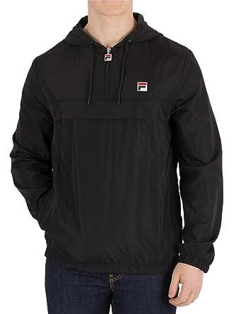 48e32d717c8 Fila Vintage Men's Cipolla 1/2 Zip Pullover Jacket, Black, Small ...