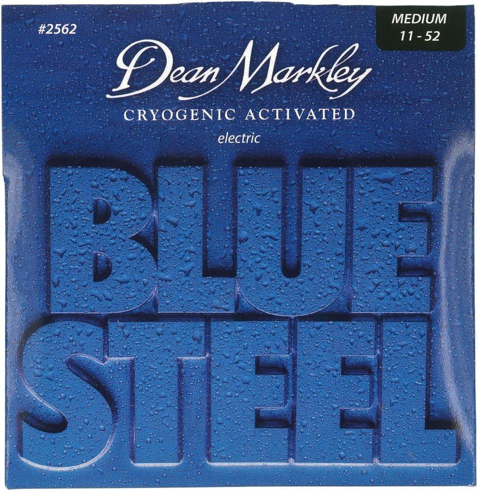 Dean Markley Blue Steel Electric MED 2562 - Juego de cuerdas para guitarra eléctrica de acero, 011-052