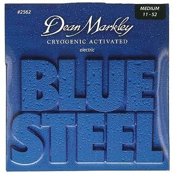 Dean Markley Blue Steel Electric MED 2562 - Juego de cuerdas para guitarra eléctrica de acero, 011-052: Amazon.es: Instrumentos musicales