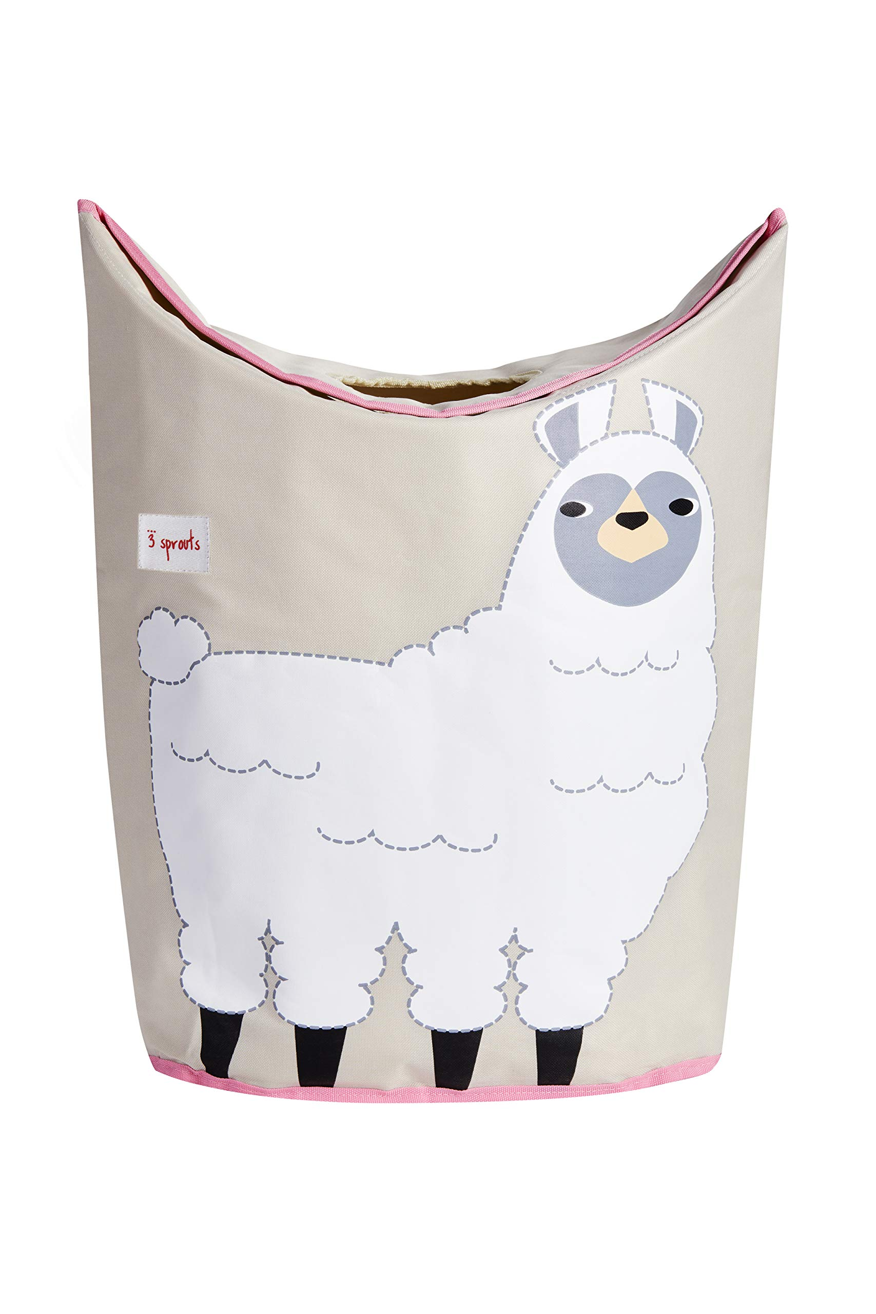3 Sprouts 3 Sprouts Laundry Hamper - Baby Storage Basket Organizer Bin for Nursery Clothes, Llama by 3 Sprouts