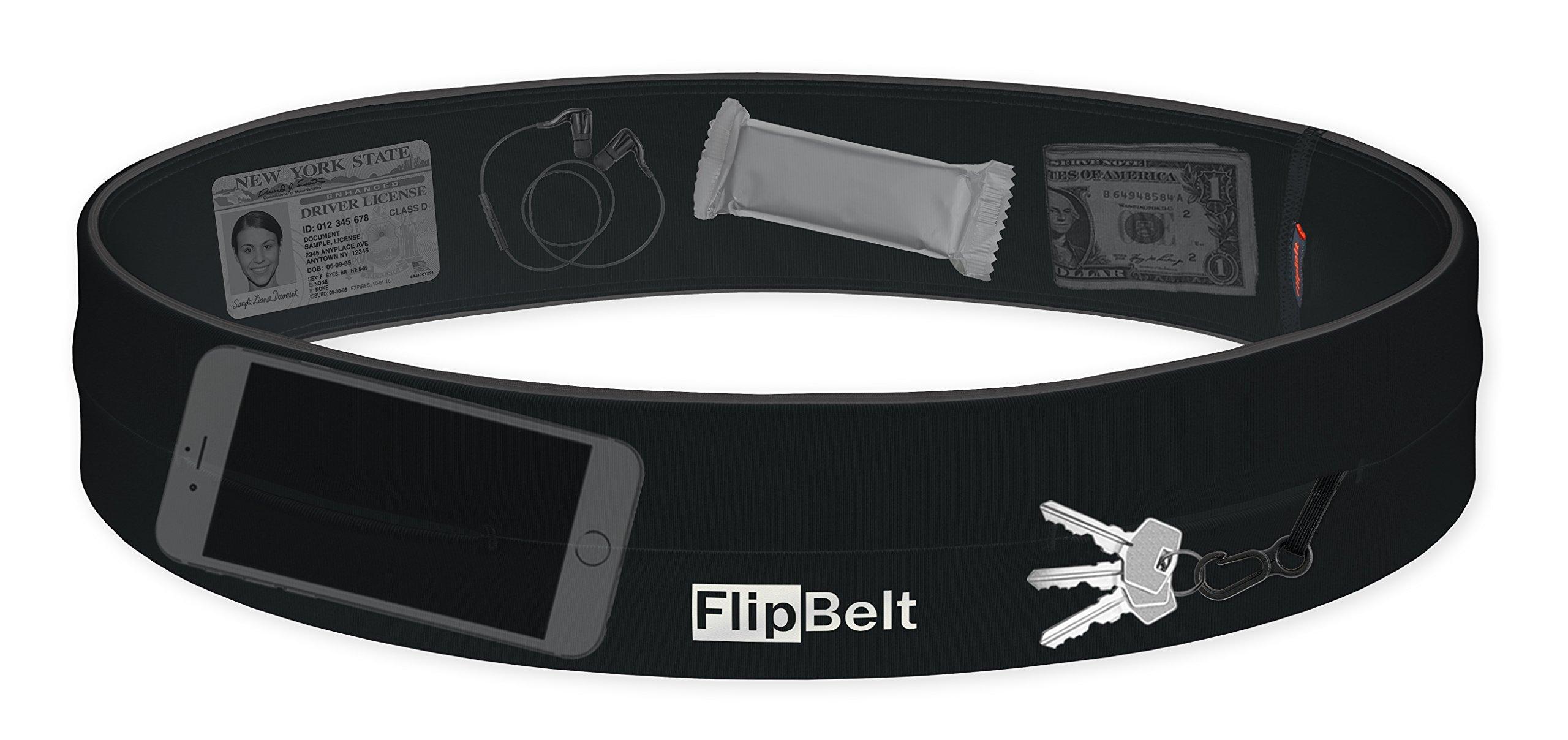 FlipBelt Level Terrain Waist Pouch, Black, X-Small/22-25 by FlipBelt (Image #2)