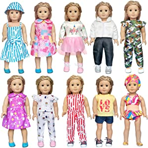 ARTST 18 inch Doll Clothes Accessories - Compatible with American Girl Dolls, 18 Inch Dolls, My Life Dolls, Our Generation Dolls