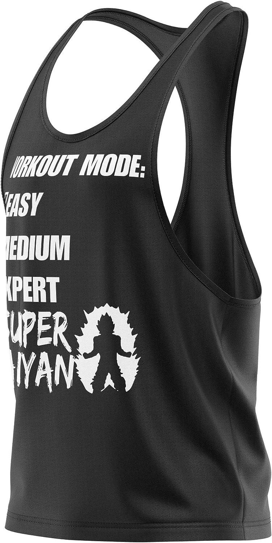 Funktionelle Sport Bekleidung M/änner /ärmellos Super Saiyan vintage Herren Gym Tshirts f/ür Performance beim Training Stylotex Stringer Fitness Tank Top Workout Mode