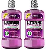 Listerine Total Care Anticavity Mouthwash To Kill Bad Breath Germs, Fresh Mint, 1 L