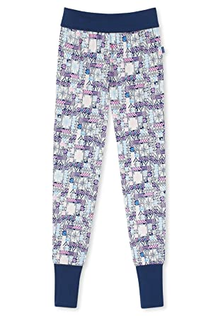 9ccc59b126 Schiesser Girls Sleepwear/Pajama Pants Mix and relax Jersey Trousers - blue  - 8 Years