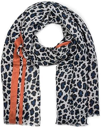 super pas cher choisir le plus récent nouvelle apparence styleBREAKER Châle pour femme avec motif léopard, rayures colorées et  franges, écharpe d'hiver, étole, foulard 01017082