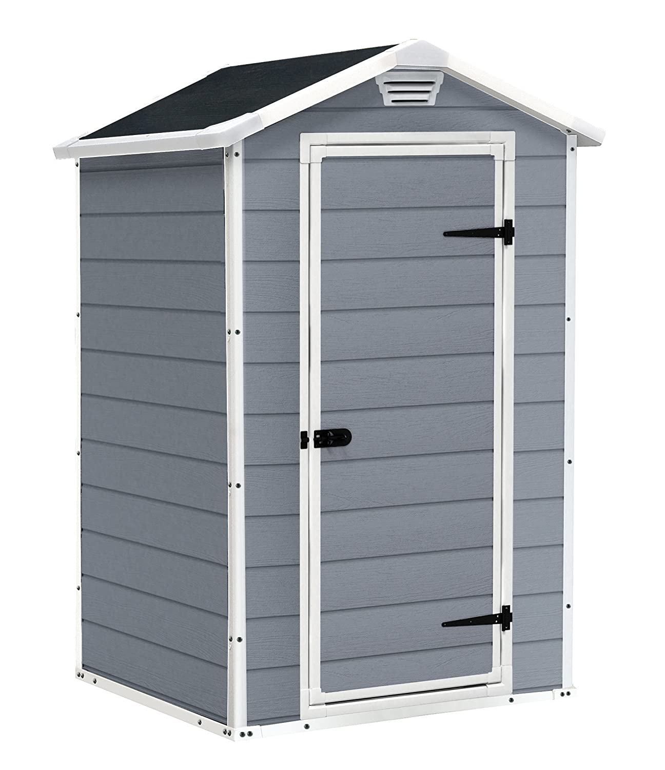 Keter Manor Outdoor Plastic Garden Storage Shed X Feet Grey