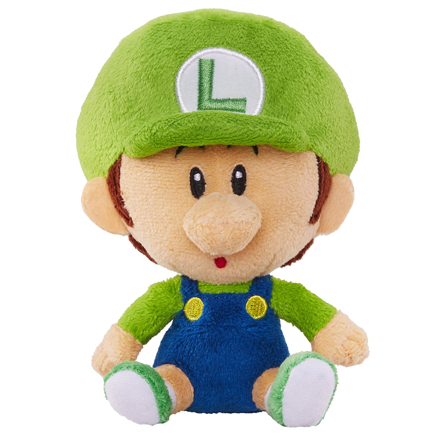 amazoncom world of nintendo mario bros u baby luigi plush toys games