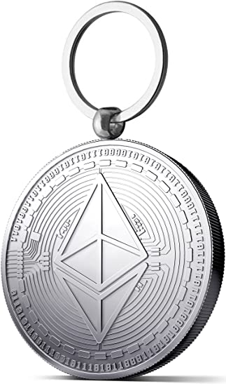 Moneda Física de Ethereum como llavero Chapado en plata ...