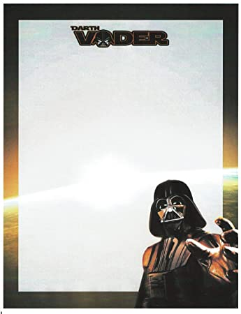 Amazon.com: Star Wars Darth Vader Papelería Papel para ...