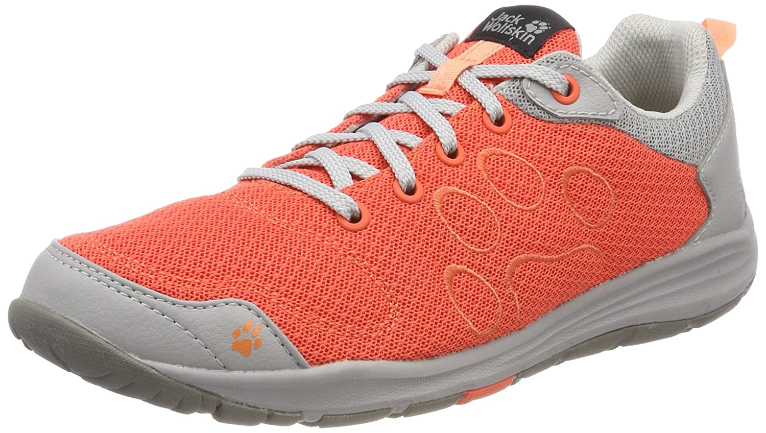 Jack Wolfskin Monterey Air Low W, Zapatillas de Cross para Mujer, Naranja (Hot Coral), 35.5 EU