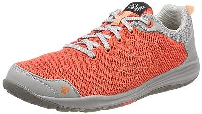 Jack Wolfskin Monterey Air Low W, Zapatillas de Cross para Mujer, Naranja (Hot Coral), 39 EU