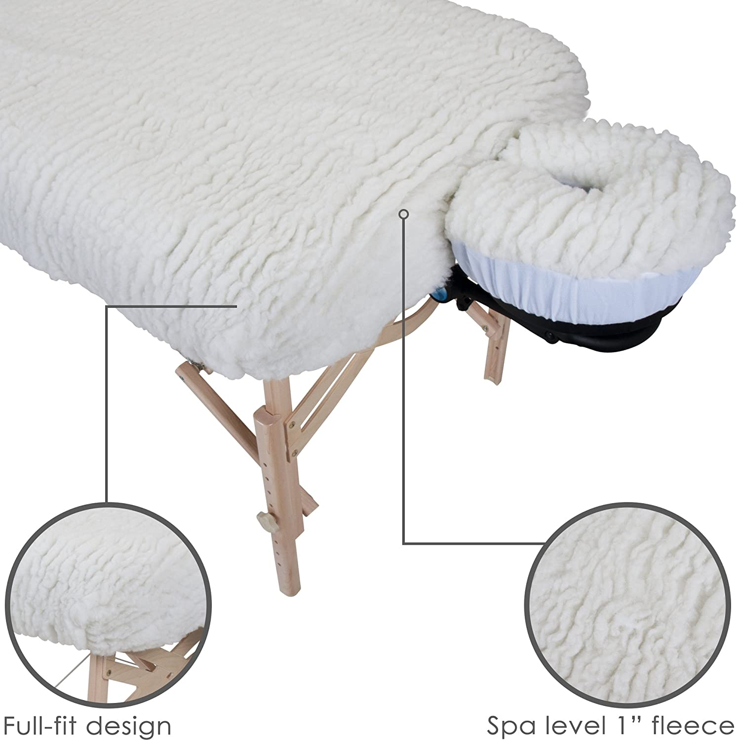 EARTHLITE Massage Table Fleece Pads – Different Styles & Sets - Cover Your Massage Table & Face Cradles in Cozy, Warm Fleece, Deluxe Set: Sports & Outdoors