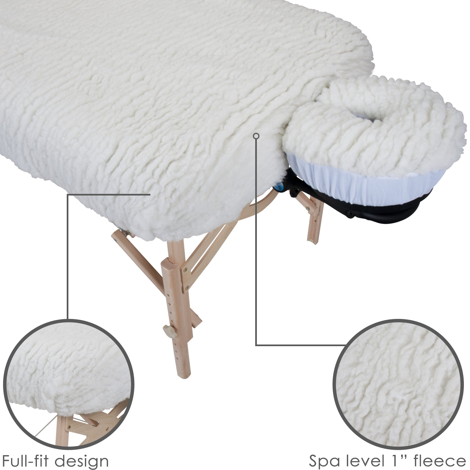 EARTHLITE Massage Table Fleece Pads - Different Styles & Sets - Cover Your Massage Table & Face Cradles in Cozy, Warm Fleece by EARTHLITE